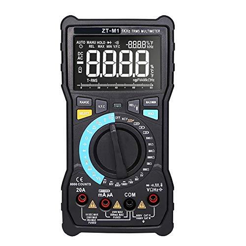 IUwnHceE ZT-M18000 multímetro Digital Dual Modos de visualización con Las Pruebas medidor del amperímetro ohmiómetro Volt Tester para la continuidad