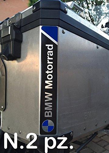 No. 2 uds. REFLECTANTE MOTORRAD R1200 R1250 PEGATINAS ADHESIVO NEGRO/AZUL NEGRO/AZUL LOGO