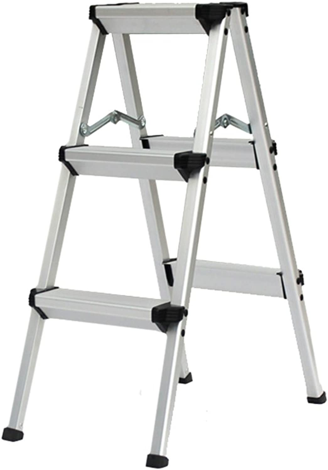 Bxfdc Heavy-Duty Steel Folding Portable Wide Step Ladder Stool Non-Slip Stair Stool Home Step Stool Weight 150kg (Size   3 Step)
