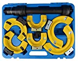 Sfeomi Coil Spring Compressor 3 Pcs Yokes Macpherson Strut Spring Compressor 1000kg Spring Compressor Kit 3 Pcs Yokes