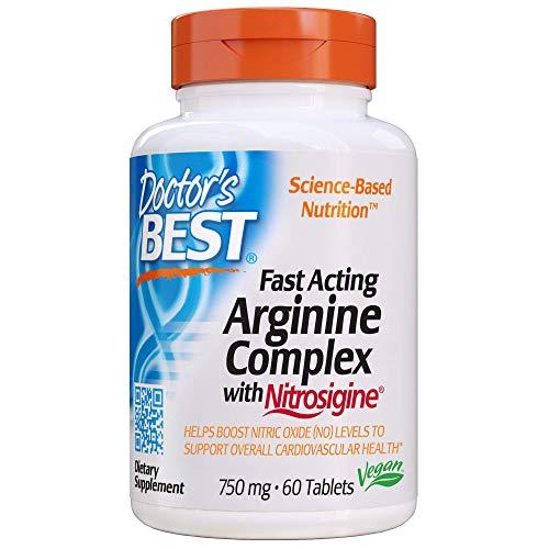 Doctor's Best Fast Acting Arginine Complex with Nitrosigine Supplement, 60 Count