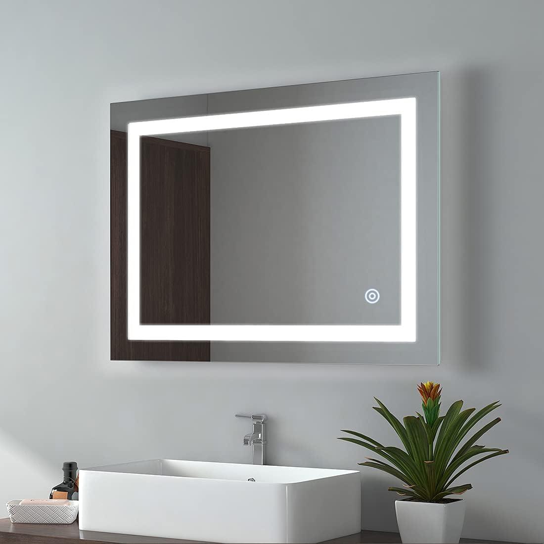 Buy Emke 24 X 32 Inch Led Bathroom Vanity Mirrors Dimmable Bathroom Mirror With Lights For Wall 3000 6500k Adjustable Warm Ip44 Waterproof Cri 90 Ul Listed Horizontal Vertical Online In Germany B08gp9wct3