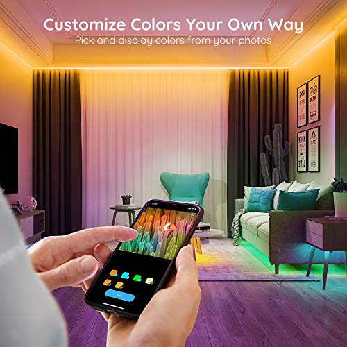 Govee RGB LED Strip Lights, Works with Alexa, Google Assistant, App Control for Room, 16.4 Feet 7