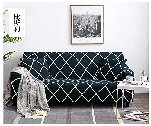 Funda Sofa Elastica Protector Adaptable,Funda de sofá elástica, funda de protección universal para muebles de cuatro estaciones, funda de sofá antideslizante impresa con todo incluido-5_145-185cm