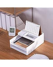 homdolaser 書類トレー 3段 レタートレー A4 縦型 書類整理 書類収納 卓上収納ラック 小物収納 ファイル収納 机上 デスクトレー 新聞/雑誌/A4ファイル/フォルダー/書類入れ 机上用品 整理整頓 アクセサリートレイ/ハーフアクセサリートレイ 卓上レターケース ホワイト