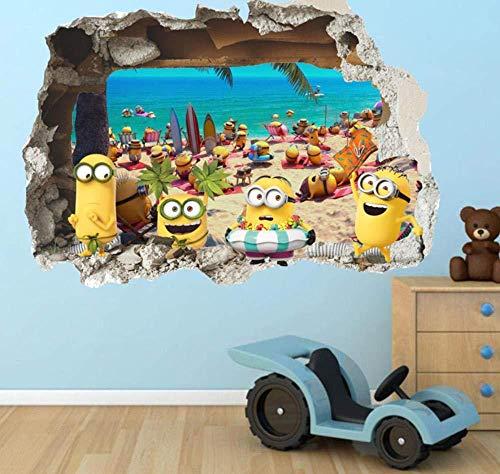 Daapplok Cartoon Minions Wandaufkleber FürKinderzimmer WandtattoosWohnkultur Tapeten Wandbild Für JungenRoom Decor