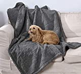 100% Leak Proof Pet Blanket Waterproof Dog Blanket Pee Proof Soft Dog Cat Bed Furniture Cover for Large Dogs and Cats Sofa Couch and Bed Dark Grey S 28' X 40'