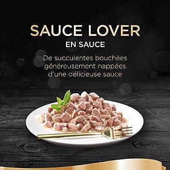 Sheba Sauce Lover - Barquettes pour chat adulte, Coffret Terre & Mer, 72 barquettes de 85g