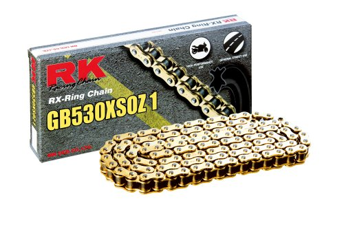RK Racing Chain GB530XSOZ1-120 120-Links Gold X-Ring Chain with Connecting Link