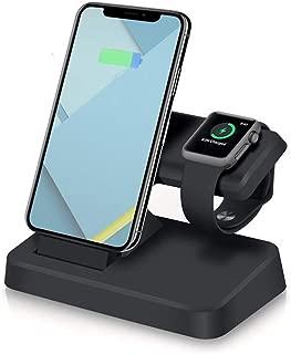 Estación de carga 2 en 1 para iPhone X XS MAX XR 8 7 6 6S Plus Cargador USB con soporte de escritorio para Apple Watch Series 4 3 2 1