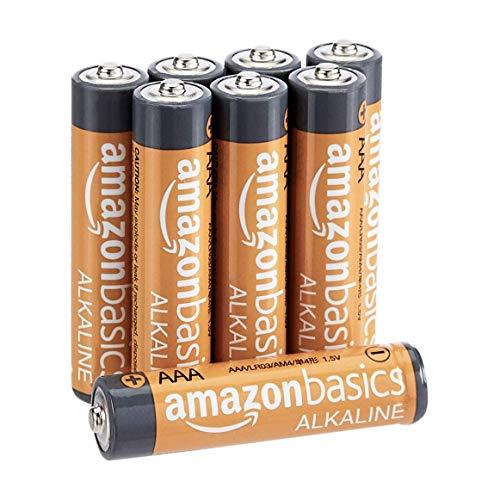 Amazon Basics AAA-Alkalibatterien, leistungsstark, 1,5V, 8 Stück (Aussehen kann variieren)