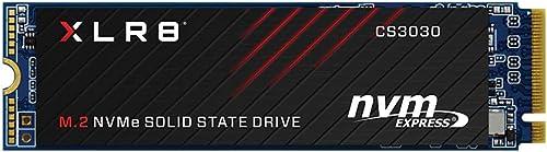 PNY XLR8 CS3030 250GB M.2 PCIe NVMe Gen3 x4 Internal Solid State Drive (SSD), Read up to 3,500 - M280CS3030-250-RB