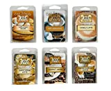 Coo Candles Coffee House 6 Pack Soy Blend Candle Wax bar Melts - Coconut Coffee, Maple Cream Latte, Turkish Hazelnut Coffee, Hot Chocolate, Vanilla Latte, and Cappuccino Brulee