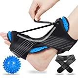 Plantar Fasciitis Night Splint, 2020 Upgraded Adjustable Plantar Fasciitis Splint Night with Massage Ball, Blue Night Splint for Plantar Fasciitis, Achilles Tendonitis, Heel and Ankle Pain