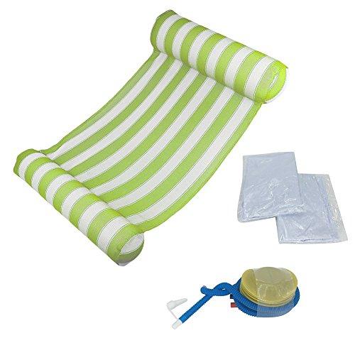 Yaheay Waterhangmat met luchtpomp - Drijvende Hangmat Lounge Stoel, Ligstoel zwembad, Waterhangmat, Drijvende hangmat, voor volwassenen en kinderen Groen