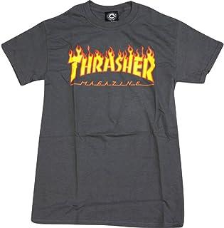Thrasher Magazine FlameグレーS Tシャツ