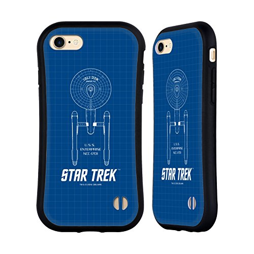 Head Case Designs Officially Licensed Star Trek USS Enterprise NCC-1701 Ships of The Line TOS Hybrid Case Compatible with Apple iPhone 7 / iPhone 8 / iPhone SE 2020