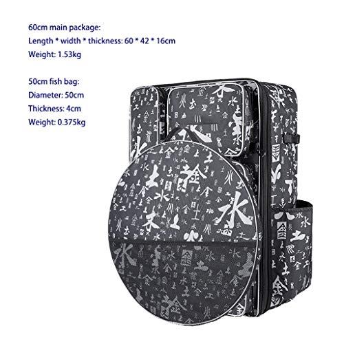 GAELLE Große Kapazität Oxford Tuch Angelgerät Tasche/Oxford Tuch Angelausrüstung Tasche + Fisch Tasche, Angeln Stuhl Rucksack, Umhängetasche Angelausrüstung Tasche (Color : C)
