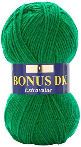 Hayfield Bonus Strickgarn, Garn, smaragdgrün, 19 x 9 x 9 cm