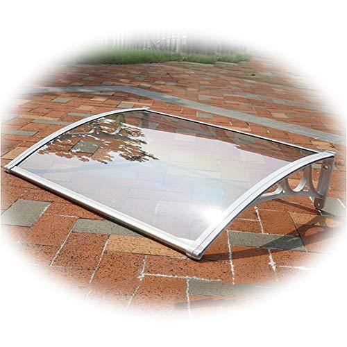 Auvent de Porte Entrée Marquise QIANDA Avant Arrière Patio Porche Extérieur Ombre Soleil Pluie Trasparente Couverture Durable, des Tailles Différentes (Size : 100cm x 60cm)