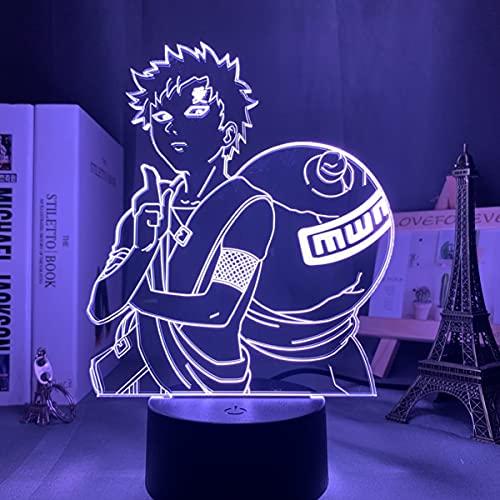 Pretty Store Naruto Sasuke Bros Night Light Illusion 3D DIRIGIÓ Lámpara De Mesa para Decoración De Dormitorio Mood Sleep Light Boys Directo DE CUMPLEAÑOS DE CUMPLEAÑOS (Color : Frosted Base)