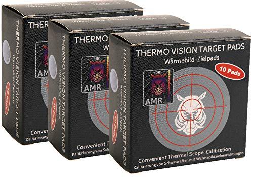 AMR Thermo Vision Target Pads - Wärmebild Zielpads , 30 Stück, Kalibrierung Wärmebildkamera Vorsatzgerät, Jagd Zubehör