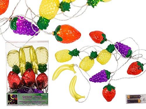 CREOFANT Lichtsnoer vruchten met 10 LED slinger · LED lichtketting vruchten deco Party zomer decoratie tuinfeest