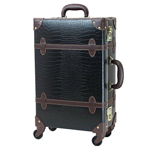 MOIERG(モアエルグ) キャリーバッグ 3年保証 キャリーケース スーツケース(L, クロコブラック)【71-55054-19】修学旅行 11色3サイズ