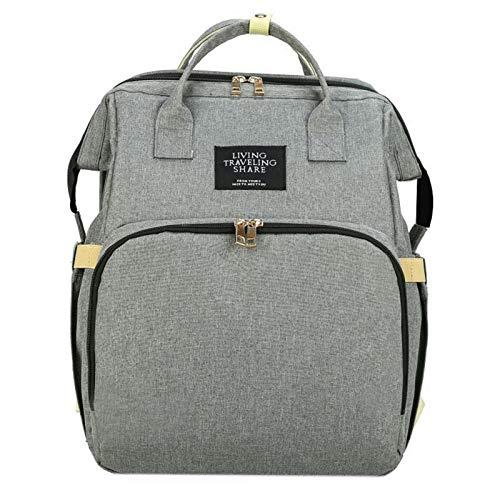 HUANRU Bolso cambiador 5 en 1, multifuncional, portátil, plegable, para mamá, bolsa para pañales, mochila para bebé, mochila para bebé, mochila para bebé, convertible y ligera