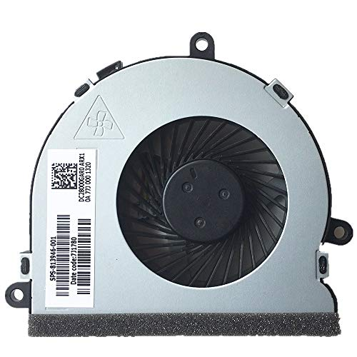 CPU Cooling Fan for HP 15-BA 15-BS 15-BE 15-BF 15-BD 15-BW 15-AC 15-AY 15-AF, 15-ba020cy 15-bs016dx 15-ac121dx 15-ac029ds 15-ac120nr PN: 813946-001