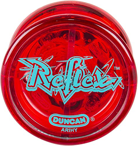 Duncan Toys Reflex Auto Return Yo-Yo, Beginner String Trick Yo-Yo, Red