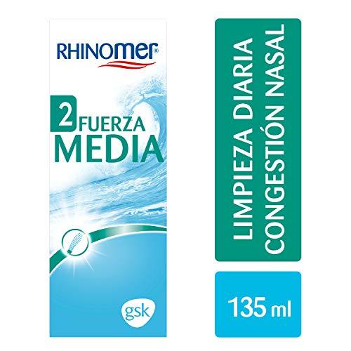 Rhinomer - Spray nasal 100% agua de mar, fuerza media 2,