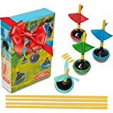 Perfect Life Ideas Lawn Darts Yard Games for Adults and Family - 6 Pcs Boxed Set Jarts as Lawn Backyard Beach - Indoor Outdoor Games for Kids All Ages