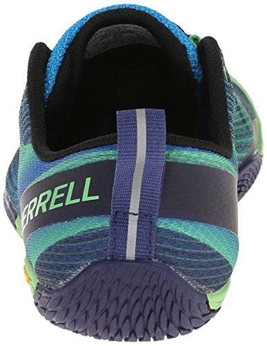 Merrell - Vapor Glove 2 - Chaussure de Trail - Homme - Multicolore (Racer Blue/Bright Green) - 44 EU