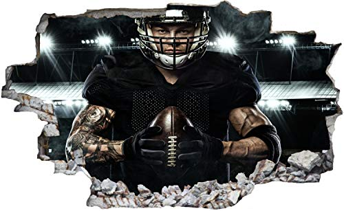 DesFoli American Football Spieler Wandtattoo Wandsticker Wandaufkleber C2981 Größe 100 cm x 150 cm