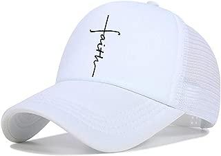 Fashion Faith Logo Adult Baseball Cap Women Men Cotton Clean Up (Adjustable)