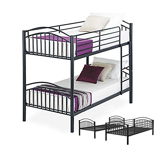 Can Split Stapelbed, Eenpersoonsbed, Metalen Bed Frames, Sterke Bedstead, Sterke Metalen Mesh Base, Slaapkamer Meubilair voor Volwassenen, Tieners, Kinderen (201x99x164cm)