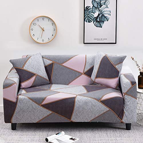 ASCV Cross Stripped Stretch Slipcovers Elastic Vollverpackte Anti-Staub-Sofabezug für Wohnzimmer Couchbezug Sofa Handtuch A9 2-Sitzer