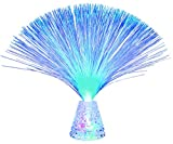 Lightahead LED RGB Color Changing Crystal Fiber Optic Lamp with Cone Base with Clear...