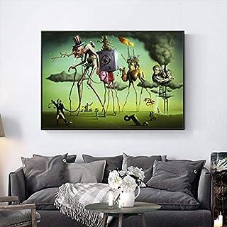 Rompecabezas, apto para adultos 1000 piezas Salvador Dalí Surrealismo Resumen s Fotos ación Juegos de rompecabezas y juguetes de desafío RoowBrain, adecuado para familiares, amigos, niños adultos, niñ