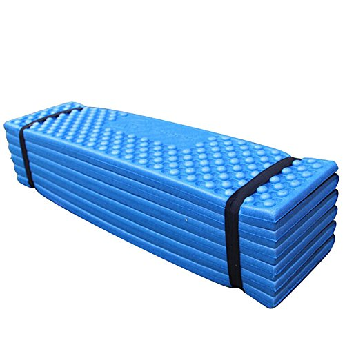 Zantec exterior impermeable Colchón Sleeping Pad Ultralight Espuma colchoneta plegable Matte Easy 190* 57* 2cm, azul