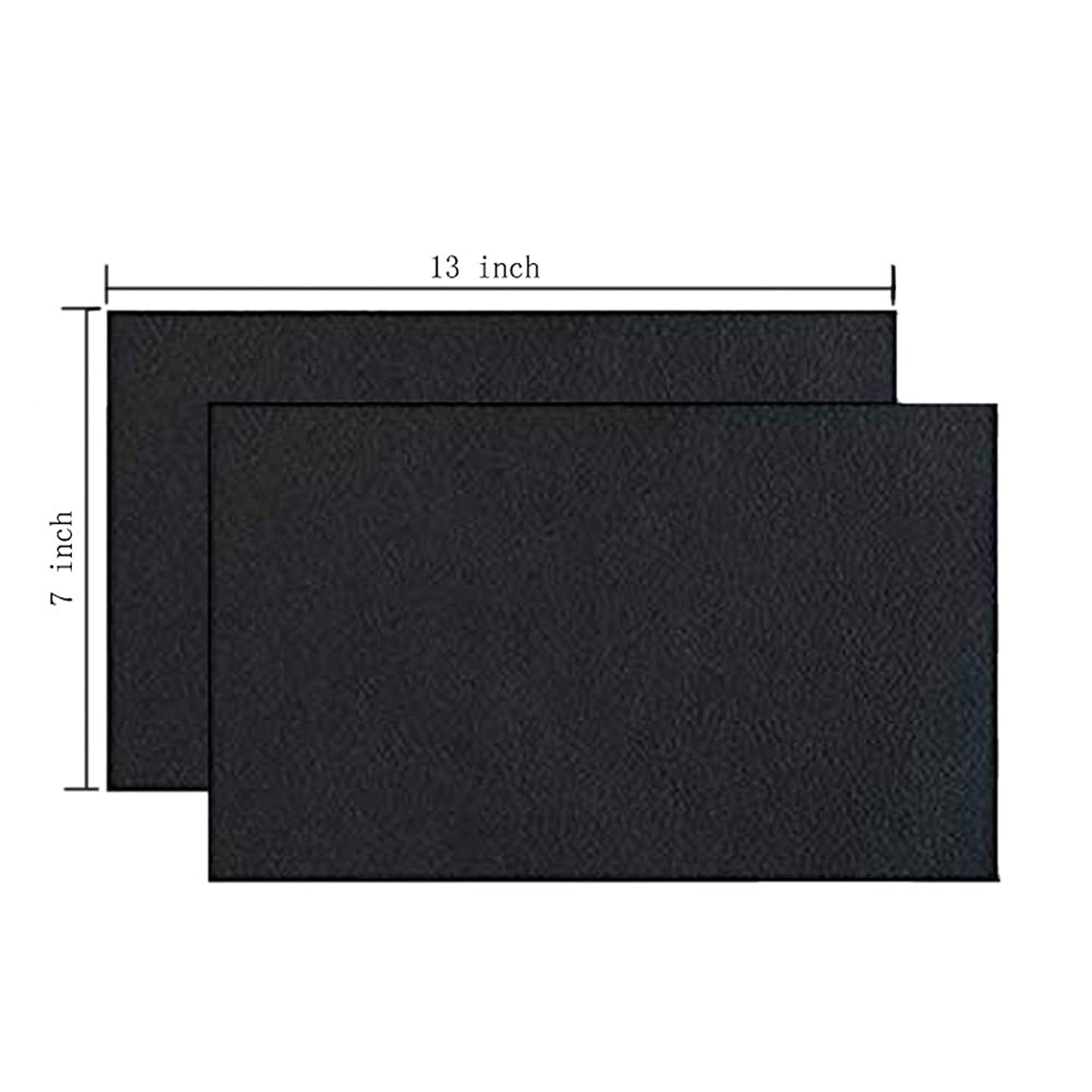 bettorrow 2 Pieces Leather Patch, Adhesive Backing Leather seat Patch for Repair Sofa, Car Seat, Jackets, Handbag, 13 by 7 Inch, Black