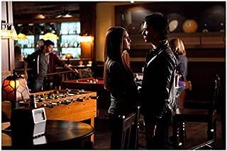 The Vampire Diaries (TV Series 2009 - ) 8 Inch x 10 Inch photo Nina Dobrev Face to Face w/Ian Somerhalder at Club Pose 2 kn