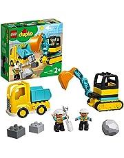 LEGO® DUPLO® İnşaat Kamyonu ve Paletli Kazıcı 10931 2 Yaş ve Üzeri Çocuklar için Kazıcı ve Damperli Kamyonlu İnşaat Sahası Oyuncağı (20 Parça)