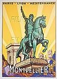 PostersAndCo TM Montpellier Rmru-Poster/Reproduktion 50 x