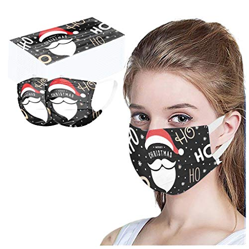 Gleamfut 50pcs Face Soft Cover Balaclavas Kids/Adult Bandana Mouth Scarf Christmas Cuted Print Scarf Mdsk US Fast Delivery