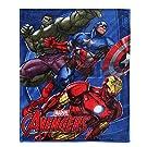 """Fleece Blanket Kids Plush Blanket Cartoon Fuzzy Blanket Soft Warm Throw Blanket ,60"""" x 80"""" Coral Velvet Blanket for Bed Couch Chair Fall Winter Spring Living Room (Avengers)"""