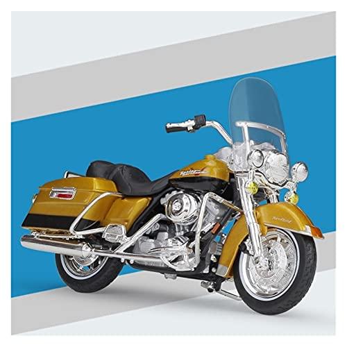 El Maquetas Coche Motocross Fantastico 1:18 Motocicleta De Aleación De Simulación En Miniatura Para Harley 1999 FLHR Road King Modelo Colección De Adultos Regalo Coche De Juguete Regalos Juegos Mas Ve