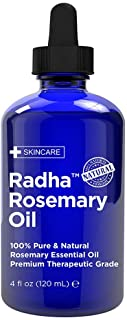 Radha Beauty - HUGE 4 oz. Rosemary Essential Oil - 100% Pure Therapeutic Grade, Steam Distilled for Aromatherapy, Relaxati...
