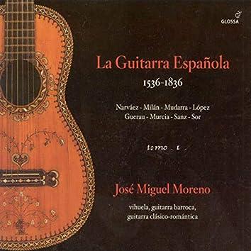 Guitar Recital: Moreno, Jose Miguel - Narvaez, L. / Lopez / Milan, L. / Mudarra, A. / Murcia, S. / Guerau, F. / Sanz, G. / Sor, F.